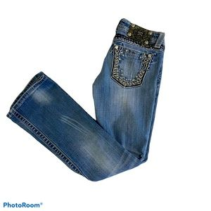 Miss Me embellished jeans size 25 Boot cut